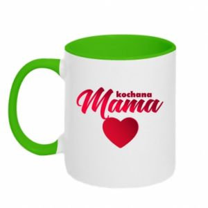 Two-toned mug mother heart