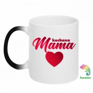 Kubek-kameleon Mama serce