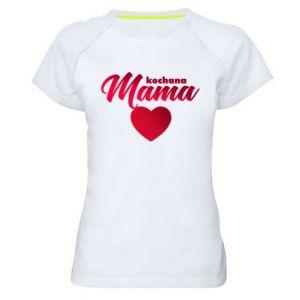 Women's sports t-shirt mother heart