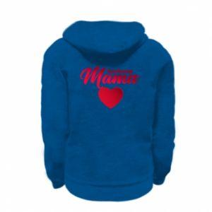 Kid's zipped hoodie % print% mother heart