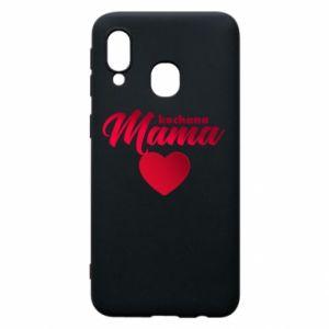 Samsung A40 Case mother heart