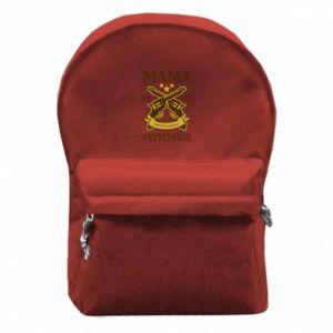 Backpack with front pocket Mama się nie patyczkuje