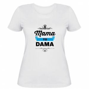 Damska koszulka Mama to dama