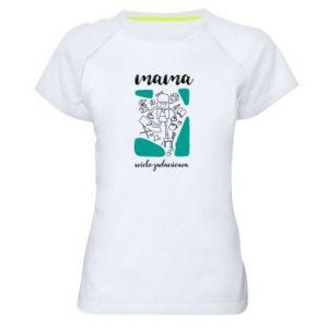 Damska koszulka sportowa Mama wielozadaniowa