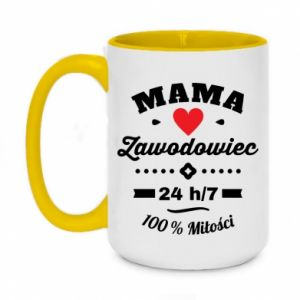Two-toned mug 450ml Mom is a Pro