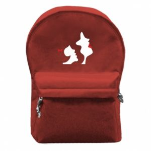 Backpack with front pocket Mother