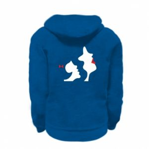 Kid's zipped hoodie % print% Mother