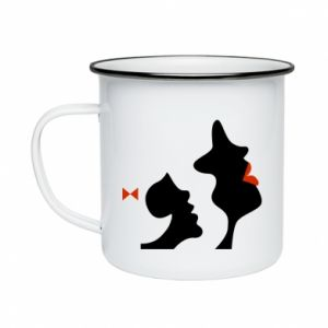 Enameled mug Mother