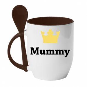 Kubek z ceramiczną łyżeczką Mummy