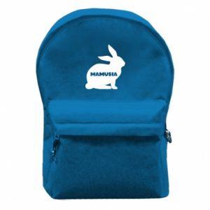Plecak z przednią kieszenią Mamusia - królik
