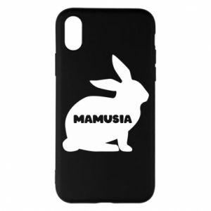 Etui na iPhone X/Xs Mamusia - królik