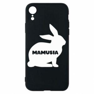 Etui na iPhone XR Mamusia - królik