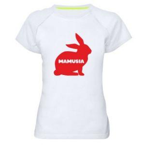 Damska koszulka sportowa Mamusia - królik