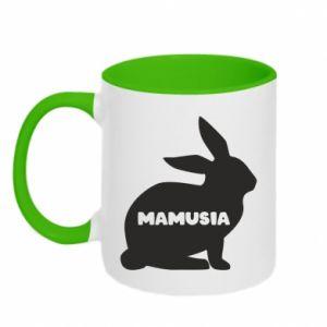 Kubek dwukolorowy Mamusia - królik