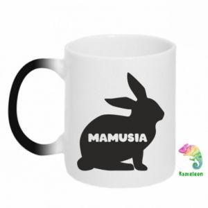 Kubek-kameleon Mamusia - królik