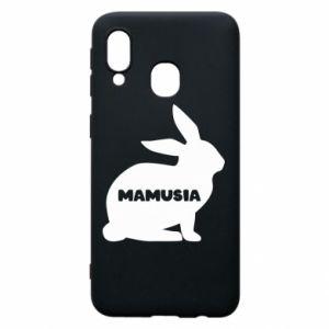 Etui na Samsung A40 Mamusia - królik