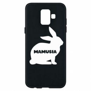 Etui na Samsung A6 2018 Mamusia - królik