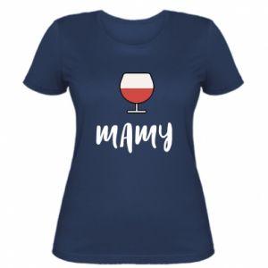 Damska koszulka Mama i wino