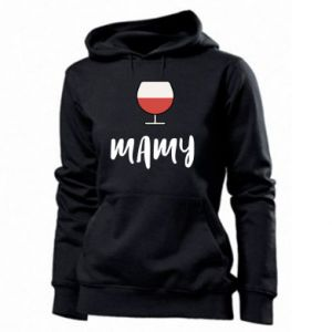 Women's hoodies Mommy and wine