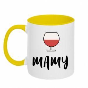 Kubek dwukolorowy Mama i wino