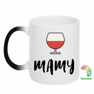 Chameleon mugs Mommy and wine