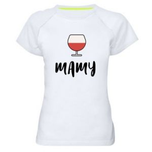 Women's sports t-shirt Mommy and wine