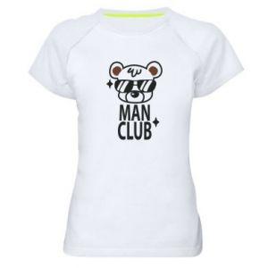 Women's sports t-shirt Man Club
