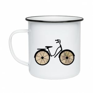 Enameled mug Bike map