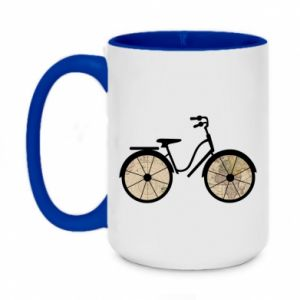 Two-toned mug 450ml Bike map