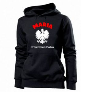 Women's hoodies Maria is a real Pole - PrintSalon