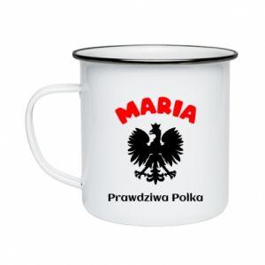 Enameled mug Maria is a real Pole - PrintSalon