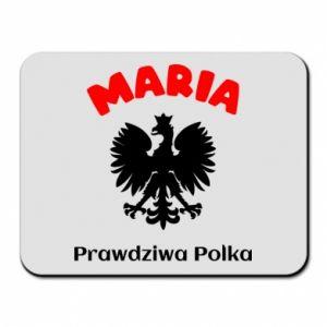 Mouse pad Maria is a real Pole - PrintSalon