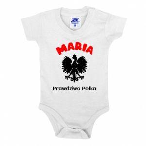 Baby bodysuit Maria is a real Pole - PrintSalon