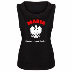 Damska koszulka bez rękawów Maria jest prawdziwą Polką