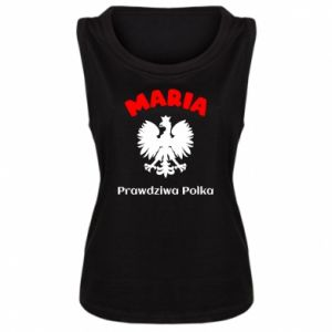 Women's t-shirt Maria is a real Pole - PrintSalon