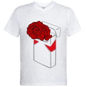 Męska koszulka V-neck Marlboro