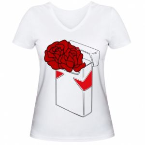 Women's V-neck t-shirt Marlboro