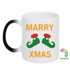 Chameleon mugs Marry xmas