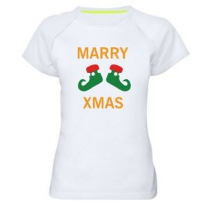 Koszulka sportowa damska Marry xmas