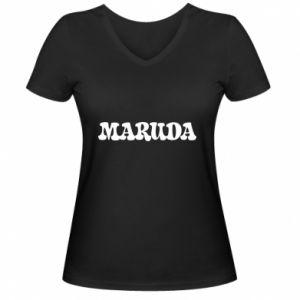 Damska koszulka V-neck Maruda