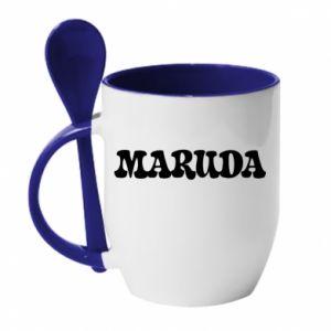 Kubek z ceramiczną łyżeczką Maruda