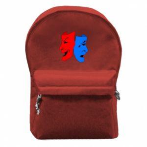 Plecak z przednią kieszenią Maski