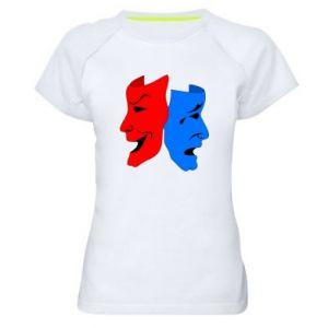 Koszulka sportowa damska Maski