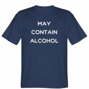 Koszulka Napis: May contain alcohol