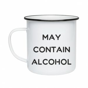 Kubek emaliowane Napis: May contain alcohol