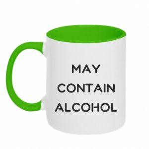 Kubek dwukolorowy Napis: May contain alcohol