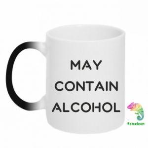 Kubek-kameleon Napis: May contain alcohol