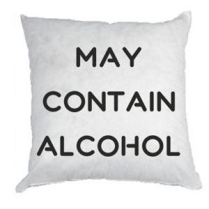 Poduszka Napis: May contain alcohol