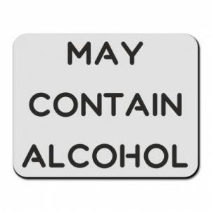 Podkładka pod mysz Napis: May contain alcohol