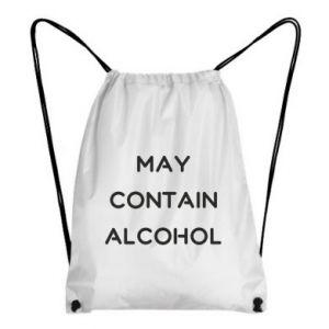 Plecak-worek Napis: May contain alcohol
